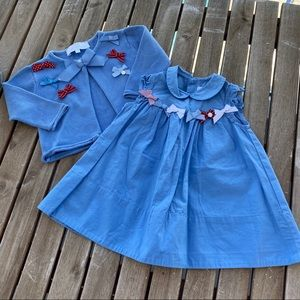Dress jacket Tartine chocolat 3 / 6 months blue
